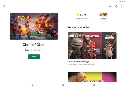 Google Play Games screenshot